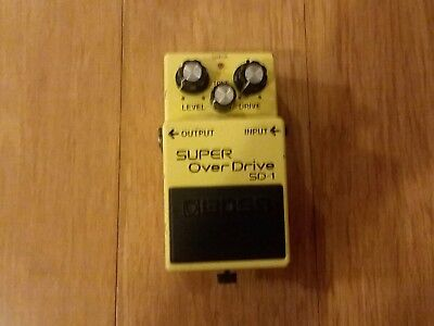 Boss SD1Super Over Drive  Distortion Pedal Modded