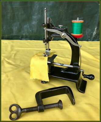 Antique Baby ~Small Cast Iron Chain Stitch~ Toy Hand Crank Sewing Machine