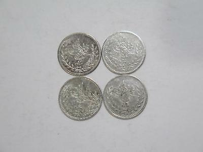 Turkey Sultanate Abdul Mejid 20 Para Ah1255 Silver World Coin Collection Lot #cp