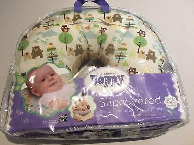 The Original Boppy Feeding & Infant Support Pillow with Cute Slipcover - As New