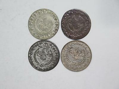 Turkey Sultan Ottoman Toughra 20 Para Ah1223 Old World Coin Collection Lot #f20
