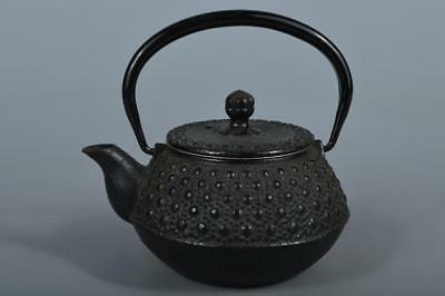 M5292: Japanese Iron Arare pattern SMALL TEAPOT Kyusu Sencha, Tea Ceremony