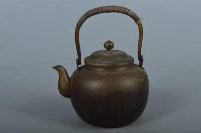 M5986: Japan Finish hammer pattern OLD COPPER BOTTLE Teapot Dobin Tea Ceremony