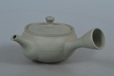 M6671: Japanese Tokoname-ware Green color TEAPOT Kyusu Sencha, Tea Ceremony
