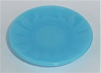Akro Agate Large Interior Panel Blue Luster Saucer ~ Child Tea Set