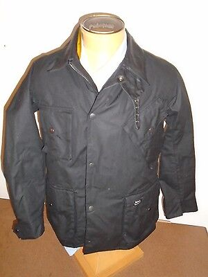 Barbour International & Deus Ex Machina Waxed Cotton Jacket NWT Large $589 Black