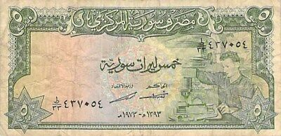 Syria 5 & 10 Pounds Notes 1973 P-94 P-95