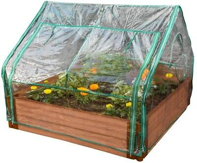 Frame It All 4 ft. x 4 ft. x 36 in. Extendable Greenhouse