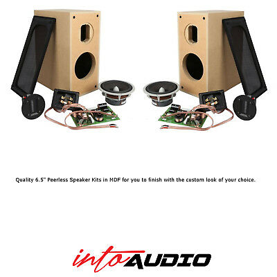 Premium 65 Peerless HiFi DIY Stereo Bookshelf Speaker Kit