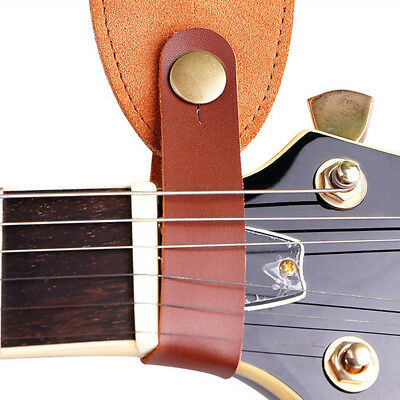 Cowskin Leather Guitar Strap Hook Button For Acoustic Folk Classic Durable HH#