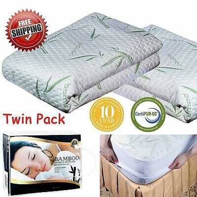Mattress Protector Waterproof Bamboo Ultra Soft Hypoallergenic Fitted Pad Cover