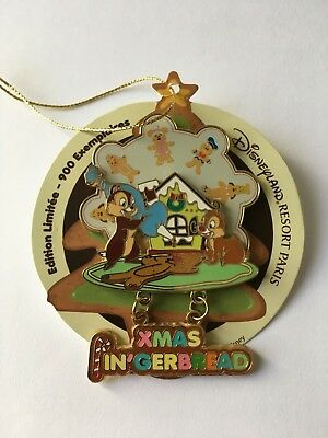 Pin Pins Disney Paris - CHIP and DALE - DLP PIN'GERBREAD EVENT - RARE LE 900 !!!