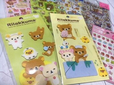 100% Original Rilakkuma 7 Stickers Set LOT Japan Kawaii San-X