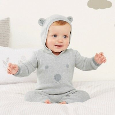 little white company 18-24 months Bear Faced Hooded Romper