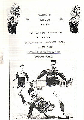 1988/89 Brandon United v Doncaster Rovers, FA Cup replay played at Doncaster