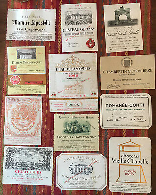 Eleven (11) 1960s and One (1) 1970s European Wine Labels