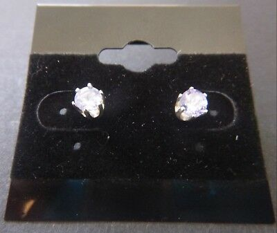 Tanzanite Round Cut 0.64ct 4.1mm Stud 925 Sterling Silver Earrings