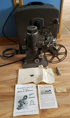 Bell & Howell Filmo Diplomat 16mm Film Movie Projector 57 Model X Tested w/ Case