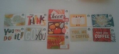 STARBUCKS Gift Cards Set of Eleven Cards, 2018,  Fall,  # 6157 Collectible, Mint