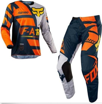 FOX SAYAK Youth Pants & Jersey Combo 2018 NEW #26 YL KTM Orange KIDS BMX MX