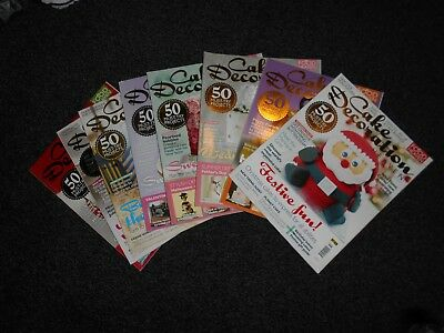 Set of 8 Food Heaven Cake Decoration  Baking Magazines Excellent Condition