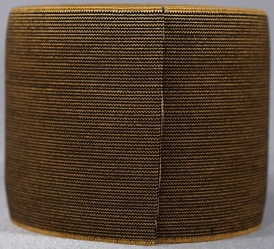 "369g roll of 3"" inch brown maize yellow woven elastic (b stock segmented)"