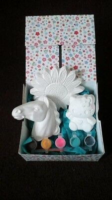 paint your own pottery gift set,ceramic,craft ,present,xmas