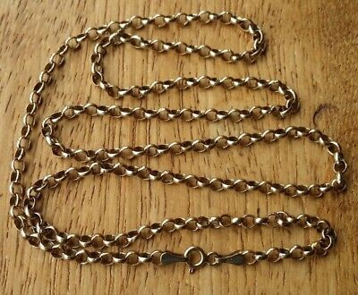"9ct SOLID YELLOW GOLD BELCHER LINK CHAIN 22"" FULLY HALMARKED 3.6 GRAMS"