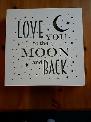 love you to the moon and back light up picture  nightlight LED plaque