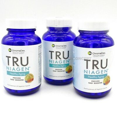 TRU NIAGEN x 3 Advanced  NAD+ Booster Nicotinamide Riboside ChromaDex