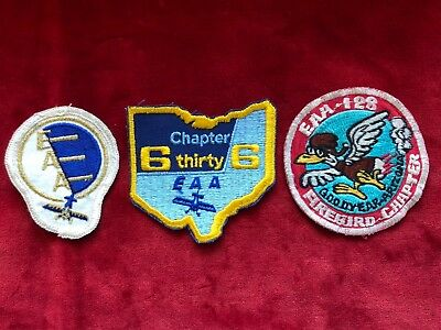Vintage EAA Patch lot - Experimental Aircraft Association Firebird Goodyear