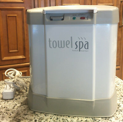 Brookstone Towel Spa Warmer Heater Towels Blankets TSK 5201 MA White