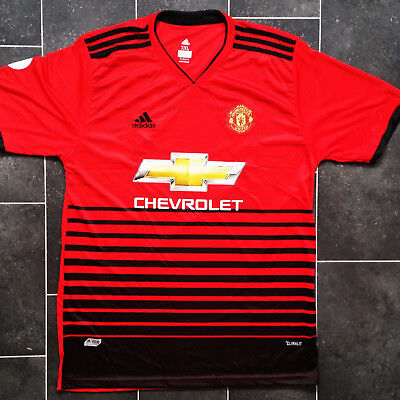 ADIDAS Manchester United FC HOME 2018-19 Mens Jersey Shirts S-XXL Size UK SELLER