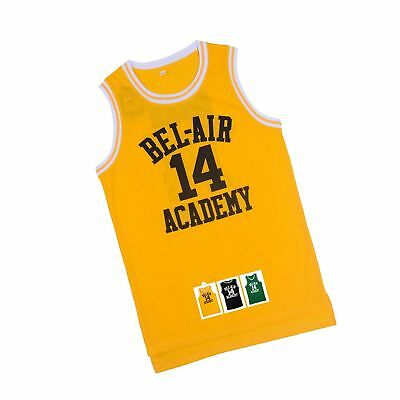 6bc4c46d2 Will Smith 14 The Fresh Prince of Bel Air Academy Basketball Jersey S-XXXL