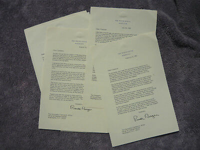 5 Clarence Miller OH 10th District Legislation Ronald Reagan Signed Autopen 80s