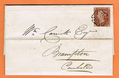 GB / Ireland 1843 EL 1d red 4 margins with fine Derry Maltese Cross postmark