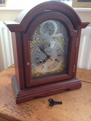 Vintage Solid Wood Lincoln 31 Day Pendulum Mantle Clock Large (14 inch) tempus f