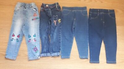 Toddler Girls Small bundle 4 pairs of jeggings jeans 18-24 months 1.5-2 years