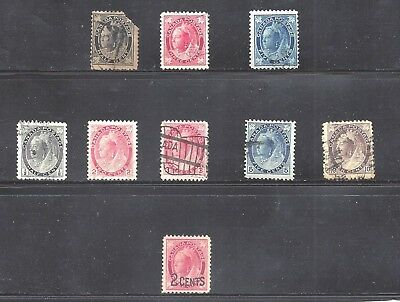 Canada SELECTION OF QUEEN VICTORIA STAMPS SCOTT 66/87 USED  (BS11772)