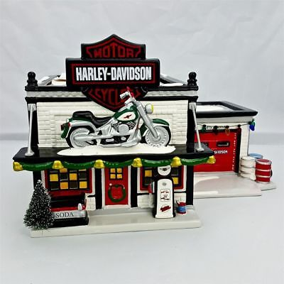 Department 56 - Original Snow Village - Harley-Davidson Motorcycle Shop