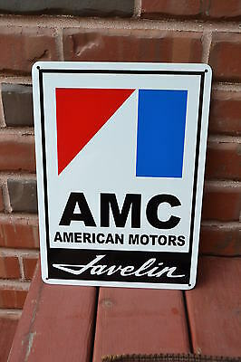 AMC JAVELIN American Motors Racing Sign AMX Service Mechanic Garage Ad SIGN