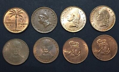 Dominican Republic 1957, 1963, 1969, 1971, 1976, 1979, 1986 And 1987 Cents Lot