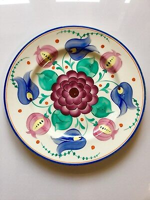 Grays Pottery Hand Painted Floral Plate. Possibly Sam Talbot Or Susie Cooper