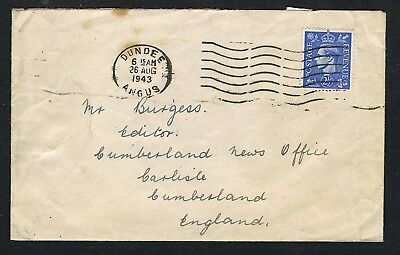 GB 1943 cover/letter, from RAF Leuchars, re. G Graham, Thursby, tail gunner