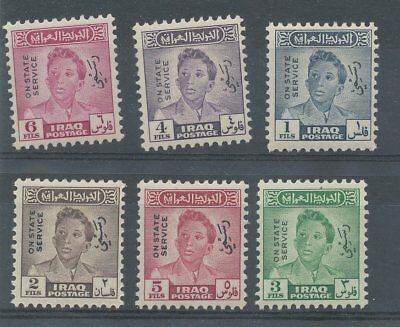 Stock Card Of 6 Iraq Stamps - On State Service