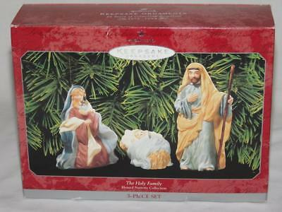 Hallmark Ornament The Holy Family Blessed Nativity Collection 3 Piece Set EUC