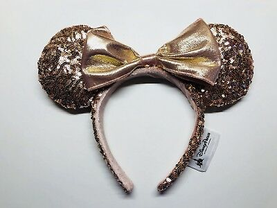 Authentic Disneyland DLR Disney Parks Rose Gold Minnie Mouse Ears Headband