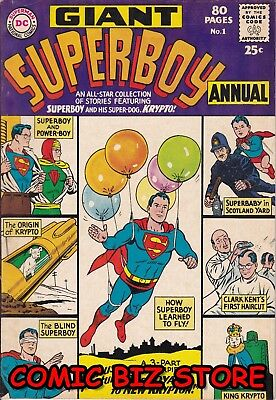 Superboy Annual #1 (1964) Silver Age Dc 1St Print Vfn- 7.0 Jerome Wenker Coa