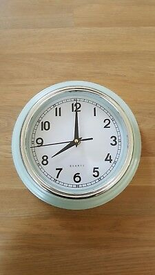 Green Retro Vintage Quartz Wall Clock Analogue Battery