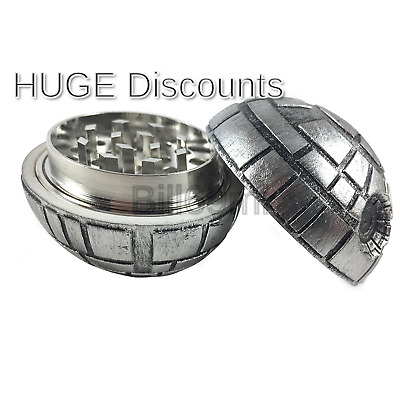 "Death Star Herb Spice Grinder Aluminum 3 pc 40mm (1.5"") (1) 1"